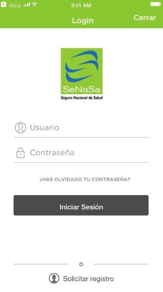 App Senasa pantalla
