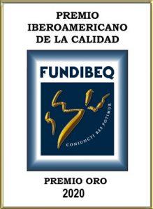 Premio Iberoamericano de la calidad Oro 2020
